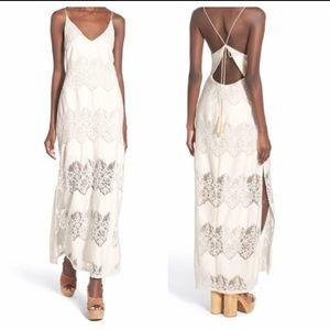 ASTR lace maxi dress